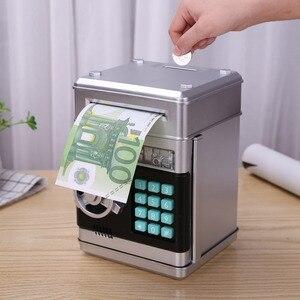 Image 2 - Elektronische Sparschwein ATM Mini Geld Box Sicherheit Passwort Kauen Münze Bargeld Ablagerung Maschine Geschenk für Kinder Kinder