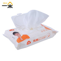 Idore 60pcs Convenient Baby Wet Wipes Tissue Bag Cotton Soft Outdoor Disposable For Baby Travel Wipes