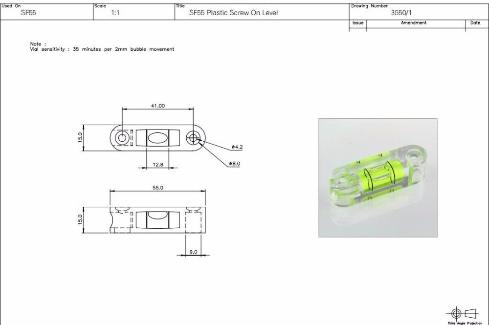 4 PICS Bubble vízmértékű injekciós üveg Standard - Mérőműszerek - Fénykép 3