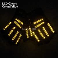 New Styles 6Colors LED Gloves Powered by 23A Battery LED Neon Strip Lights for Event Party Decoration
