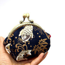 National Wind Cotton Coin Purse Women Small Mini Short Wallet Bag Money Change Little Key Credit Card Holder For Kids Girl(China)