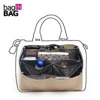 Organizer Insert Bag In Bag Dual Package Folding Bags Brown Storage Bags Multi Pockets