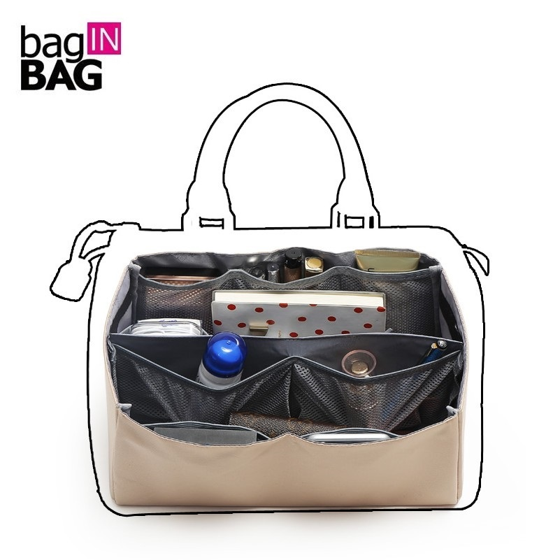 Organizer Insert Bag in Bag with 9 compartments; Base Shaper Liner Insert with Multi Storage Pockets; Handbag Accessories Bags napoleon 72 in electric fireplace insert with glass