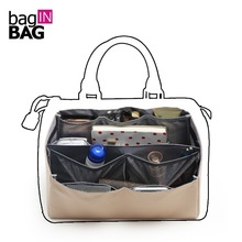 Фотография organizer insert bag in bag dual package folding bags brown storage bags Multi Pockets