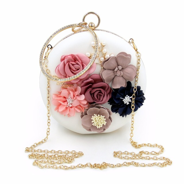 Women's Elegant Evening Clutch with Flowers