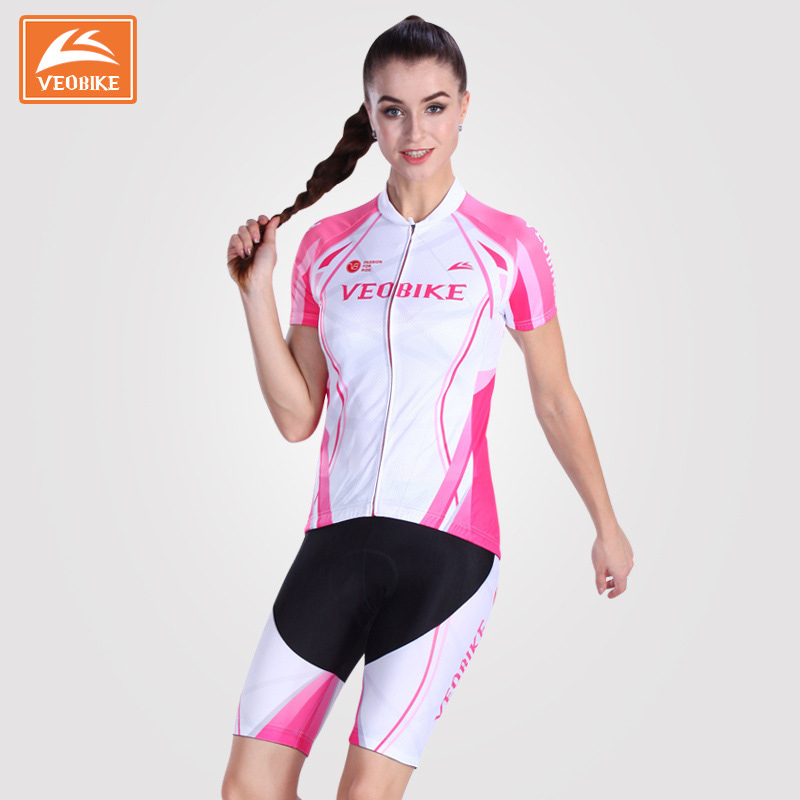 Veobike 2017 Womens Cycling set Summer Pro team Cycling Jersey Bike Bicycle Clothing Gel Pad Bike Pants & Jersey Sport Suits