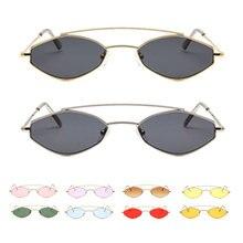 цена на 2019 sunglasses women small frame gold orange stainless steel oval sun glasses for men retro metal frame uv400 unisex