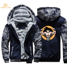 2019 Winter Camouflage Hoodies Men Anime Dragon Ball Z Gym-Clothing Harajuku Sweatshirts Warm Jackets Casual Slim Fit Sportswear new fixed blade knife damascus stainless steel blade shadow wood handle camping hunting knife
