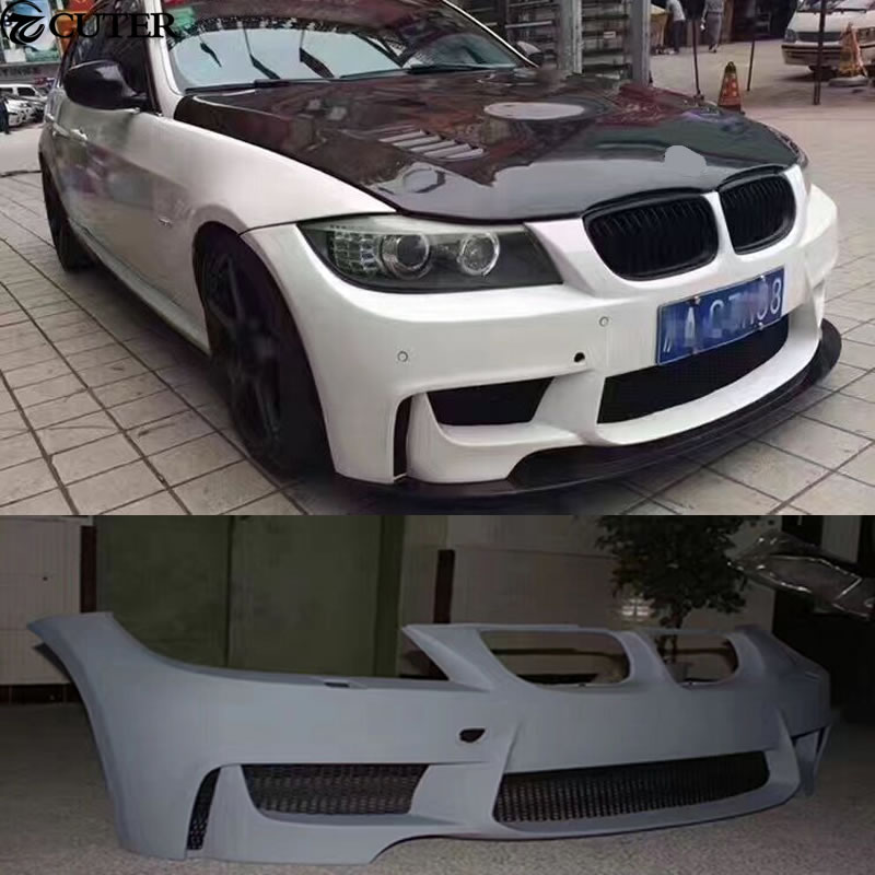 e90 325i 1m style car body kit pu unpainted front bumper. Black Bedroom Furniture Sets. Home Design Ideas