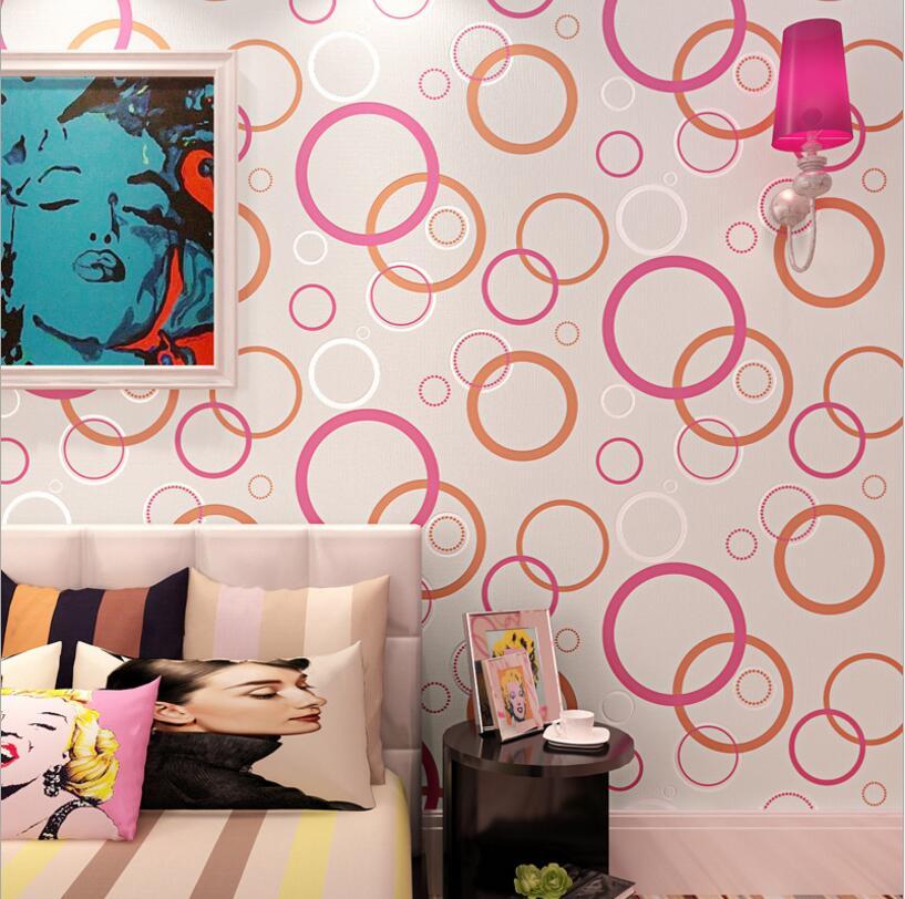Modern Minimalism Black White Circle Effect Wallpaper Roll /Fashion ...