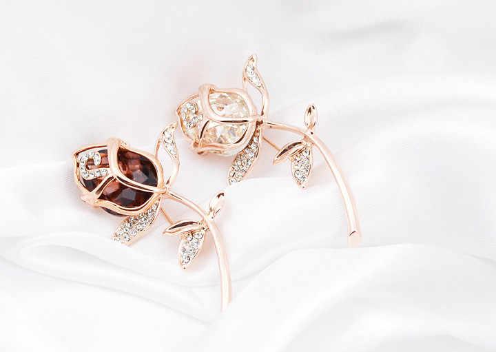 CINDY XIANG Cristallo Rosa Spille per Le Donne Eleganti Spille & Spilli 4 Colori Disponibili Carino Gioelleria raffinata e alla moda Spilla di strass