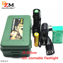 Cheaper IR 850nm Night Vision Zoomable IR Infrared Waterproof Shake-proof LED Flashlight with Zoom Telescope Functions Torch