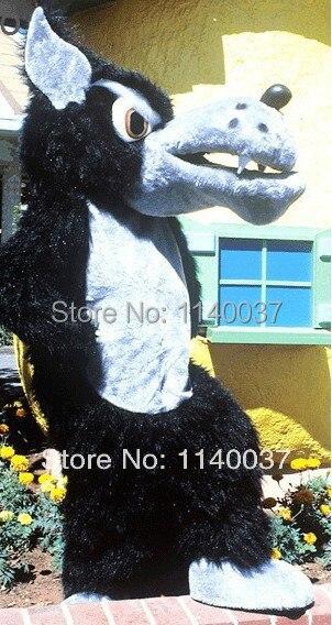 mascot Huge Black Wolf  Mascot Costume custom fancy costume anime cosplay kits mascotte theme fancy dress carnival costume