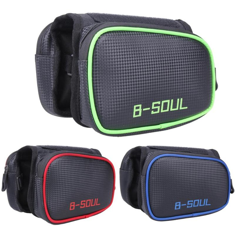 B-SOUL велосипедные сумки для горного велосипеда передняя сумка для телефона с сенсорным экраном велосипедная сумка для велосипедной трубки