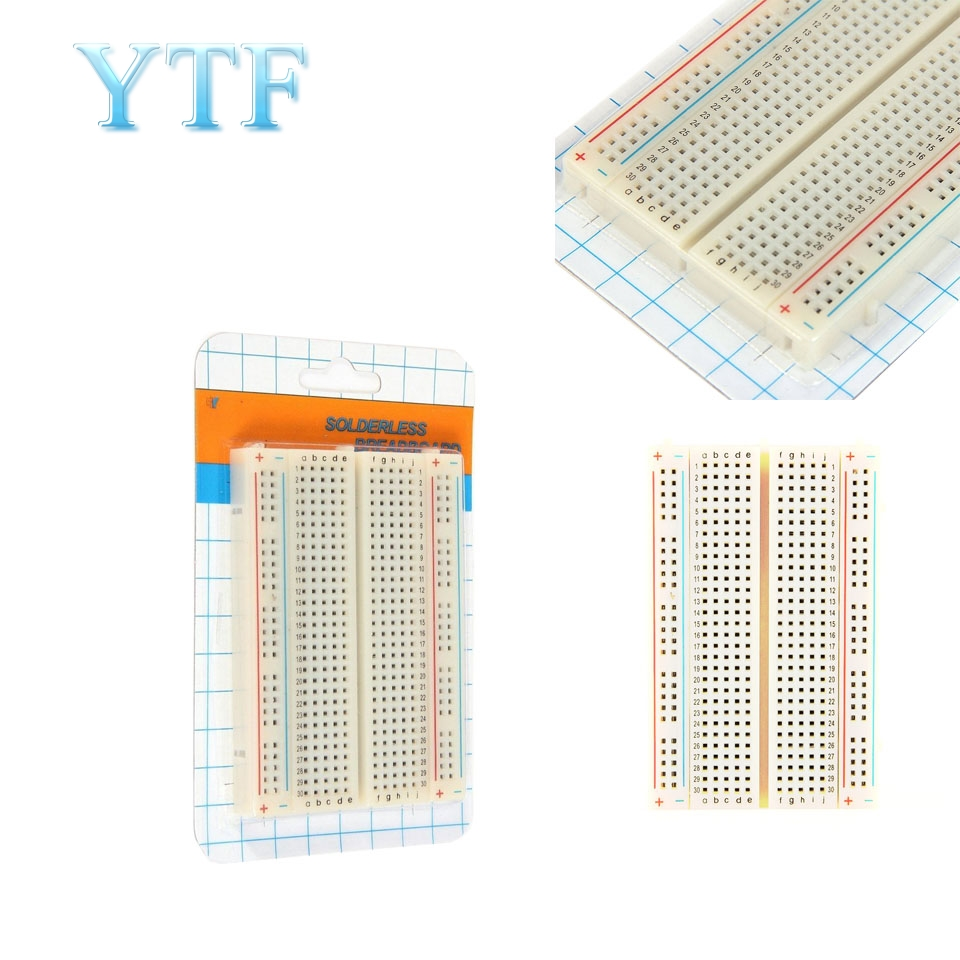 Mini Universal Solderless Breadboard 400 Contacts Tie-points Available AL For Raspberry Pi
