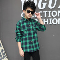 Kids boys winter plus velvet plaid shirt 2016 new fashion baby boy clothing big virgin shirt 6/7/8/9/10/11/12/13/14 years