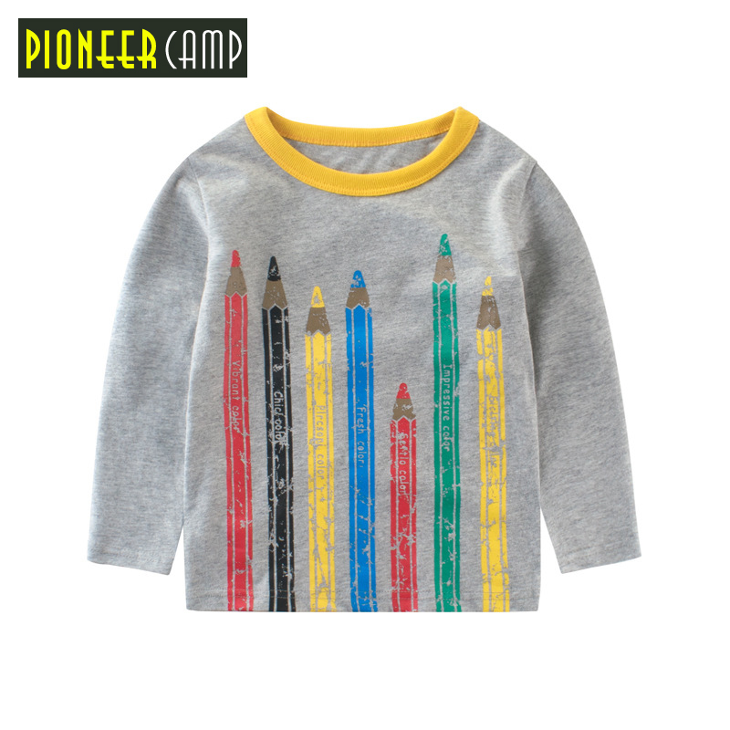 Pioneer Camp Kids 2017 New Arrival 2-10Y Children T shirt Toddler Long Sleeve Tees Baby Boy&Girls Tops Clothing Shirts