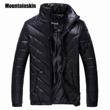 Mountainskin 2017 Marke Winterjacke männer Parkas Warme Jacke 5XL Casual Mäntel Männer Baumwolle Gefütterte Jacke Männliche Kleidung EDA086
