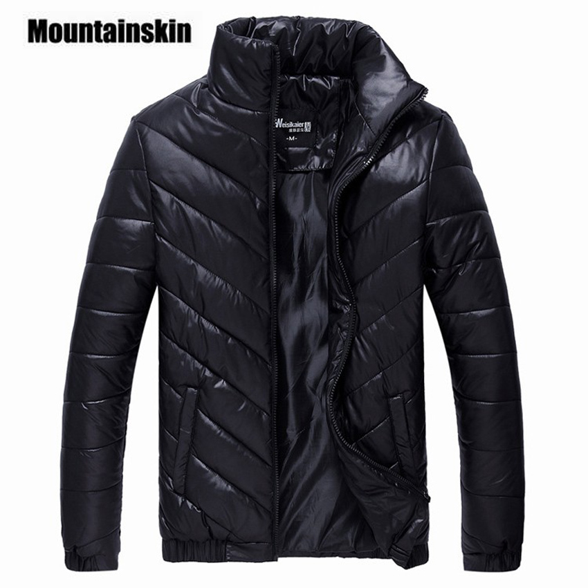 Mountainskin 2018 Brand Winter Jacket Men's   Parkas   Warm Jacket 5XL Casual Coats Men Cotton Padded Jacket Male Clothing EDA086