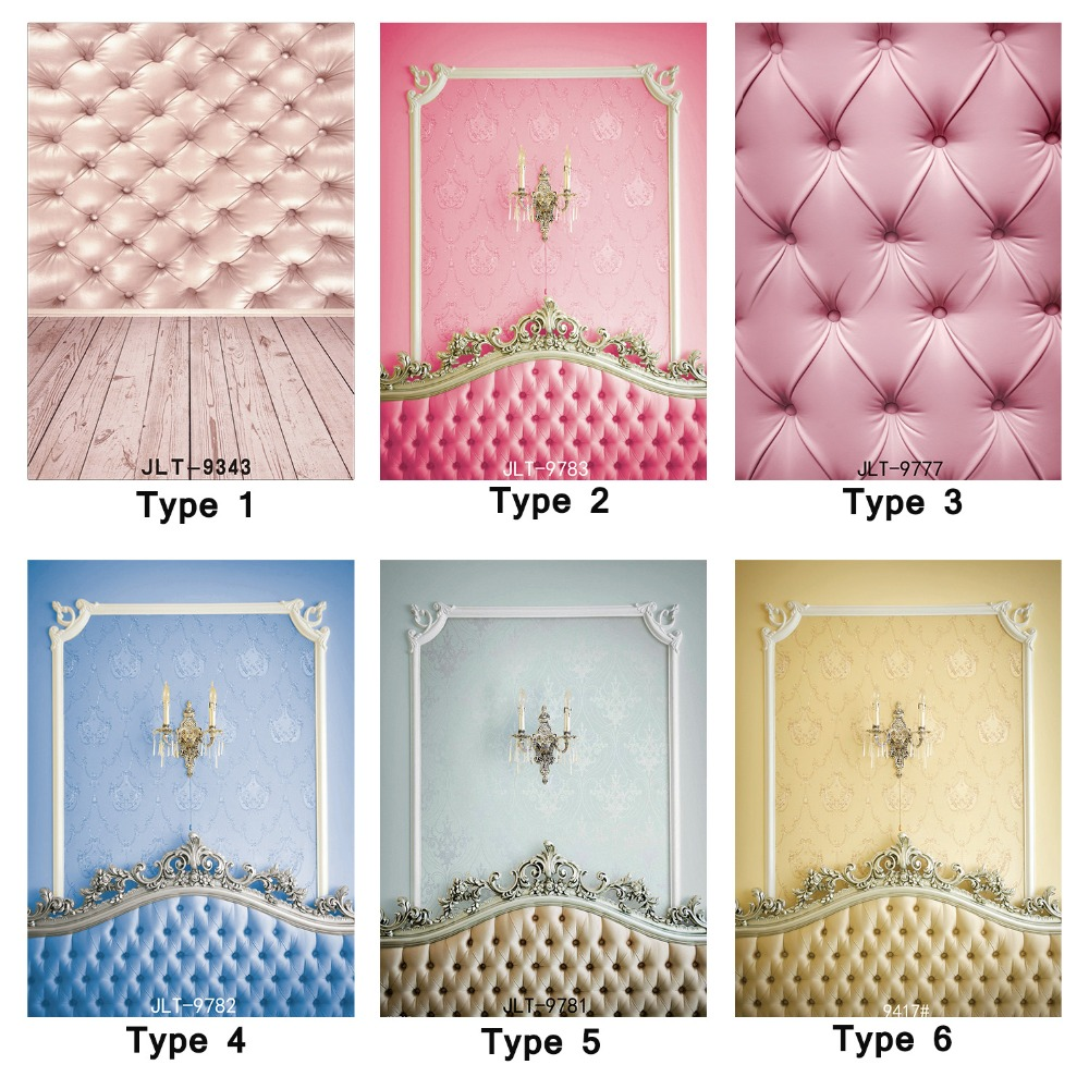 Backgrounds for Photo Studio Tufted Wall Bed Board 5X7ft Vinyl backdrops Photography Backdrop Newborn Baby Children Photo Shoot wedding backgrounds pink bed table luminescent lamp bedroom boudoir photography red wall backdrops scene photo shoot studio kate