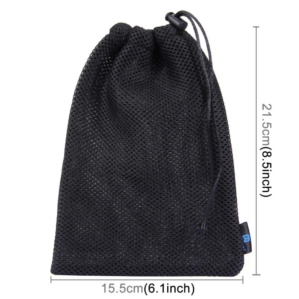 821ef3219e4d US $3.32 5% OFF|19.5cmx14.5cm Nylon Mesh Storage Bag For GoPro Accessories  Drawstring bag for GoPro HERO5 Session HERO4 HERO 5 4 3+SJ4000-in ...