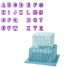 Accessories 40 PCS Number Letters Happy Birthday Plastic Fondant Cake Decoration Tools Font Alphabet Cookie Biscuit Cutter Set