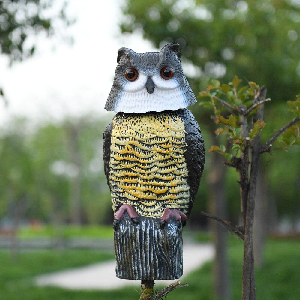 ZILIN Rotating Head Owl Decoy Scarecrow Garden Defence Plastic Owl Decoy  17*17*38cm In Figurines U0026 Miniatures From Home U0026 Garden On Aliexpress.com |  Alibaba ...