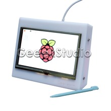 Raspberry Pi 3 Model B Acrylic Bracket Case Holder for 5 Inch 800*480 HDMI Touch Screen LCD Display