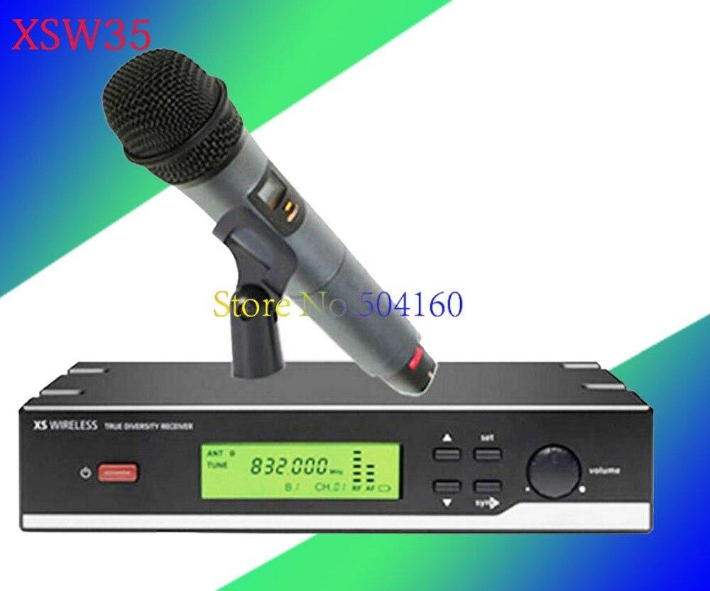 2.4G True Diversity Receiver XSW35 Professional UHF Wireless Microphone System Vocal Set XSW 35 Cordless Mic Mike free shipping 2 4g true diversity receiver xsw35 professional uhf wireless microphone system vocal set xsw 35 cordless mic mike