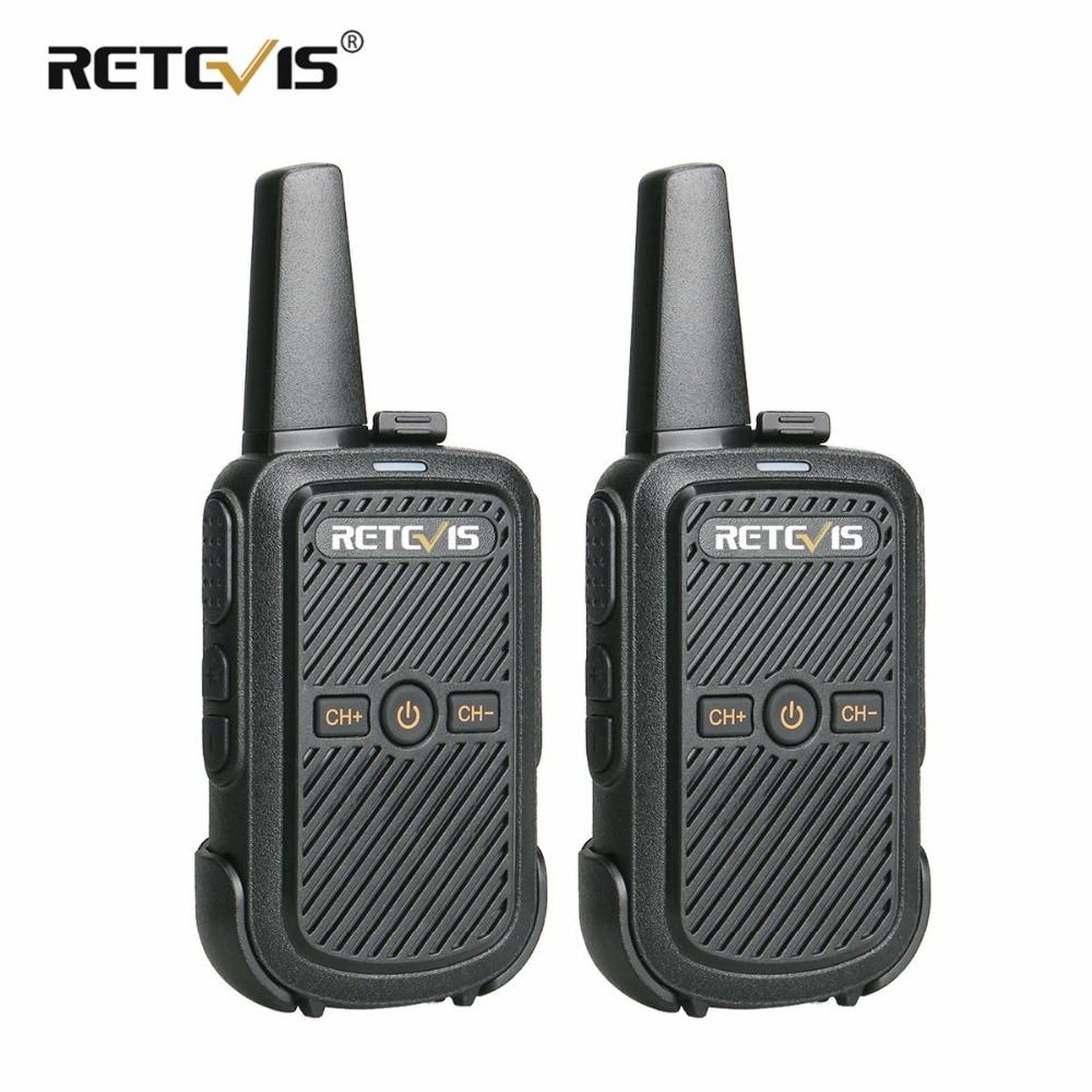 2 pcs Retevis RT15 Mini Talkie Walkie Portable Two Way Radio 2 w UHF VOX Scrambler USB Charge Hf Émetteur-Récepteur hôtel/Restaurant/KTV