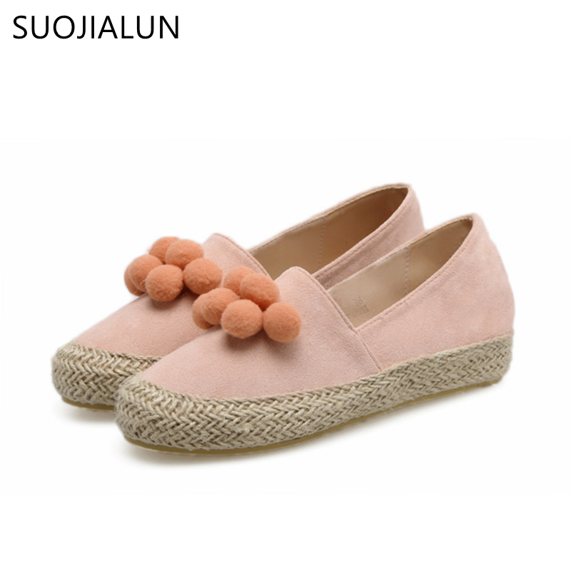 SUOJIALUN Women Flat Loafers Ladies Slip On Casual Flat Shoes Fashion Spring Autumn Fisherman Flat Shoes For Women vtota flat shoes for women 2017 fashion loafers platform shoes zapatos mujer slip on shoes for women casual chaussures femme b83