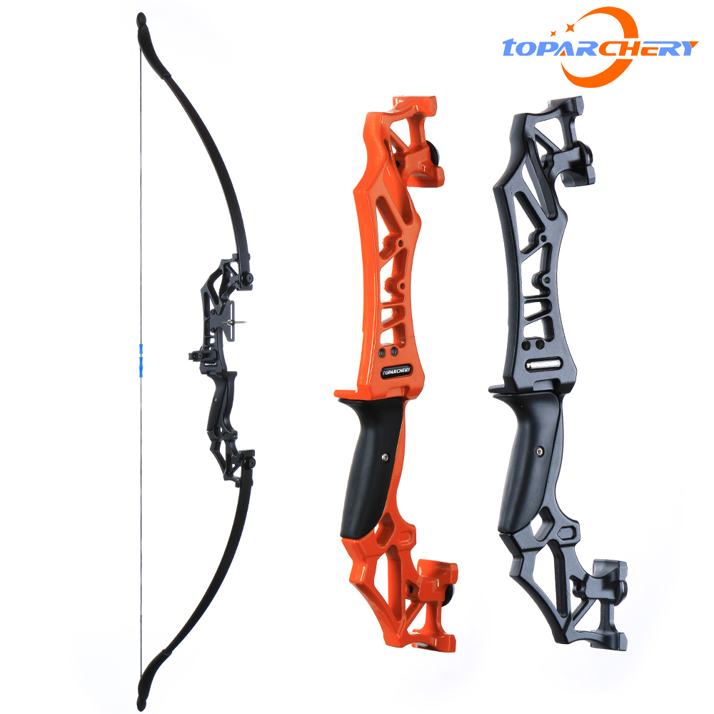 Toparchery Takedown Recurve Bow Right Hand With Arrow Rest And Aiming Point  For Hunting Target Shooting 30-40lbs For Beginner