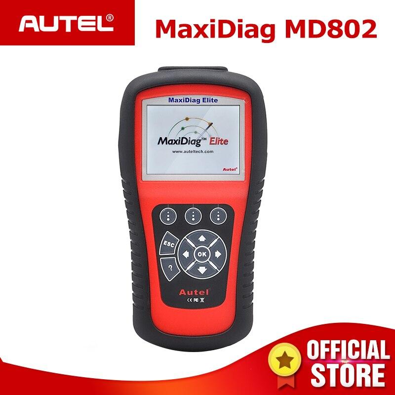 Autel MaxiDiag Elite MD802 Tutto il Sistema del Lettore di Codice OBD2 Scanner OBD 2 Auto Strumenti di Diagnostica ABS Airbag EPB Servizio OLIO reset MD805