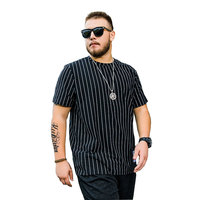 Large size Summer Short sleeved T shirt Fashion Casual fat Loose Striped Half sleeved Shirt Male More Size XL 5XL 6XL