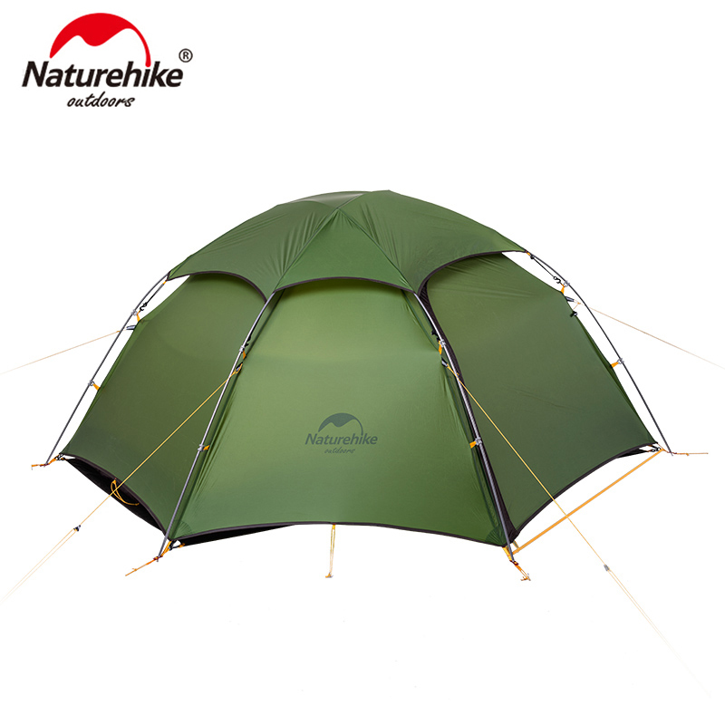 NatureHike cloud peak tent ultralight two man camping hiking outdoor NH17K240-Y scuba dive light