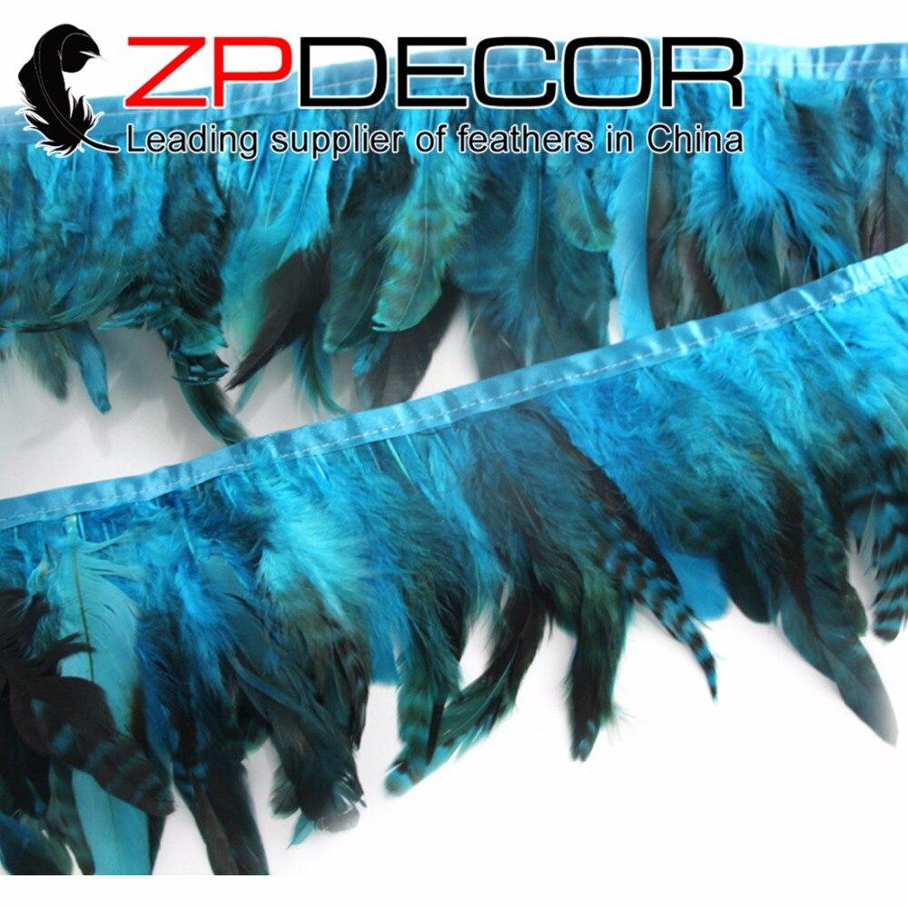 Aqua Blue Chandelle Feather Trim 1 Yard