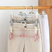 Strongwell Plastic Portable Bathrooms Cloth Hanger Rack with Detachable Clips Clothespin Clothes Hangers Socks Pants Drying Clip