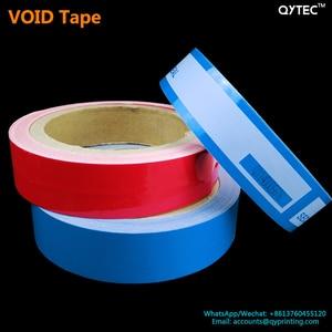 Image 3 - 1 rollo de cinta adhesiva de 25mm x 30m, cinta de embalaje abierta vacía, azul, rojo, etiqueta a prueba de manipulaciones, garantía de seguridad, sello del vacío, paquete de pegatinas, cintas