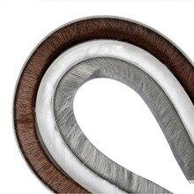 Felt Draught Excluder Self Adhesive Sealing Strip Wool Pile Weatherstrip Door Window Brush Seal 9mm x 15mm 20m Gray Brown White