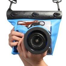 Alta Calidad 20 M Impermeable SLR DSLR Cámara digital al aire libre Bajo El Agua caja de la cubierta de la bolsa del bolso seco para canon para nikon caliente nueva