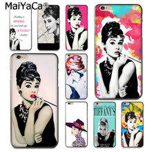 MaiYaCa Audrey Hepburn Style Pop Art Top Detailed Popular soft Case for iPhone 8 7 6 6S Plus X 10 5 5S SE 5C Coque Shell(China)