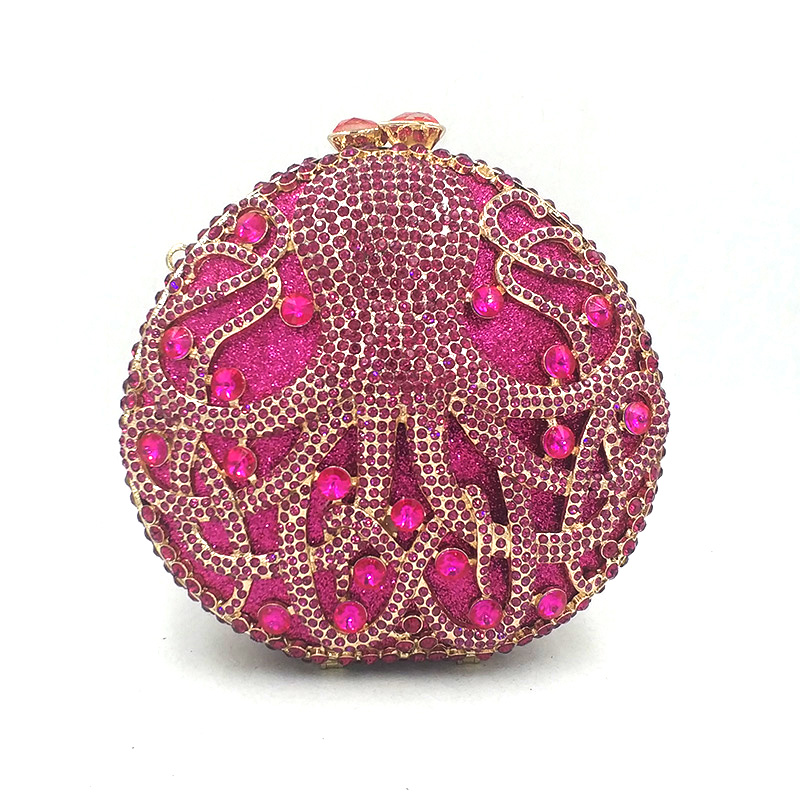 Ladies handbag Bridal wedding party purse women evening party bag diamonds animal octopus crystal clutches elegant