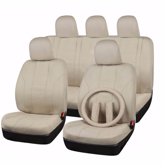 flyingBanner Full Set Universal Car Seat Cover 6 Colors Car Cover Seat & Steering Wheel Covers & Safety Belt Car Accessories
