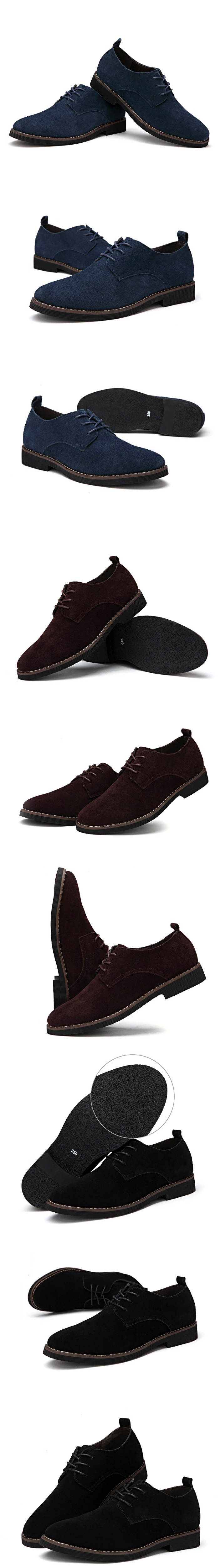 HTB1HjJOgSCWBuNjy0Fhq6z6EVXaX - Suede Leather Oxford Men's Casual Shoes-Suede Leather Oxford Men's Casual Shoes