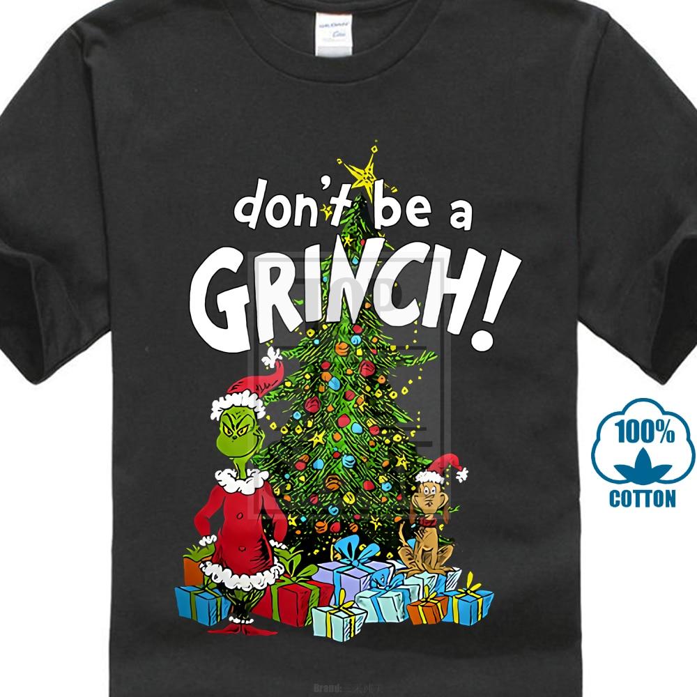 Dr Seuss Don T Be A Grinch T Shirt Adult Medium Christmas Tree-in T ... 2edc2b847