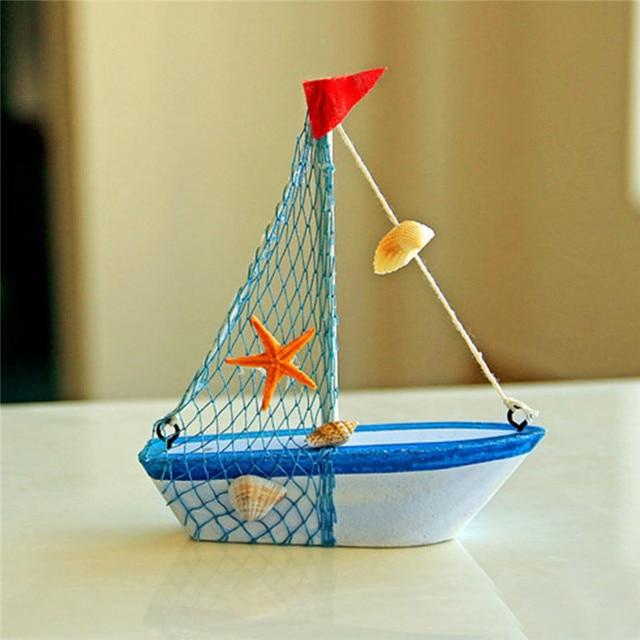 Décoration de maison de bateau bleu en bois nautique marine de style méditerranéen vintage 3