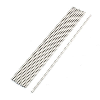 10pcs Stainless Steel 200 x 3mm Round Rod Shaft for RC Model 10mm 304 stainless bar stainless steel round rod smooth bright surface diy hardware