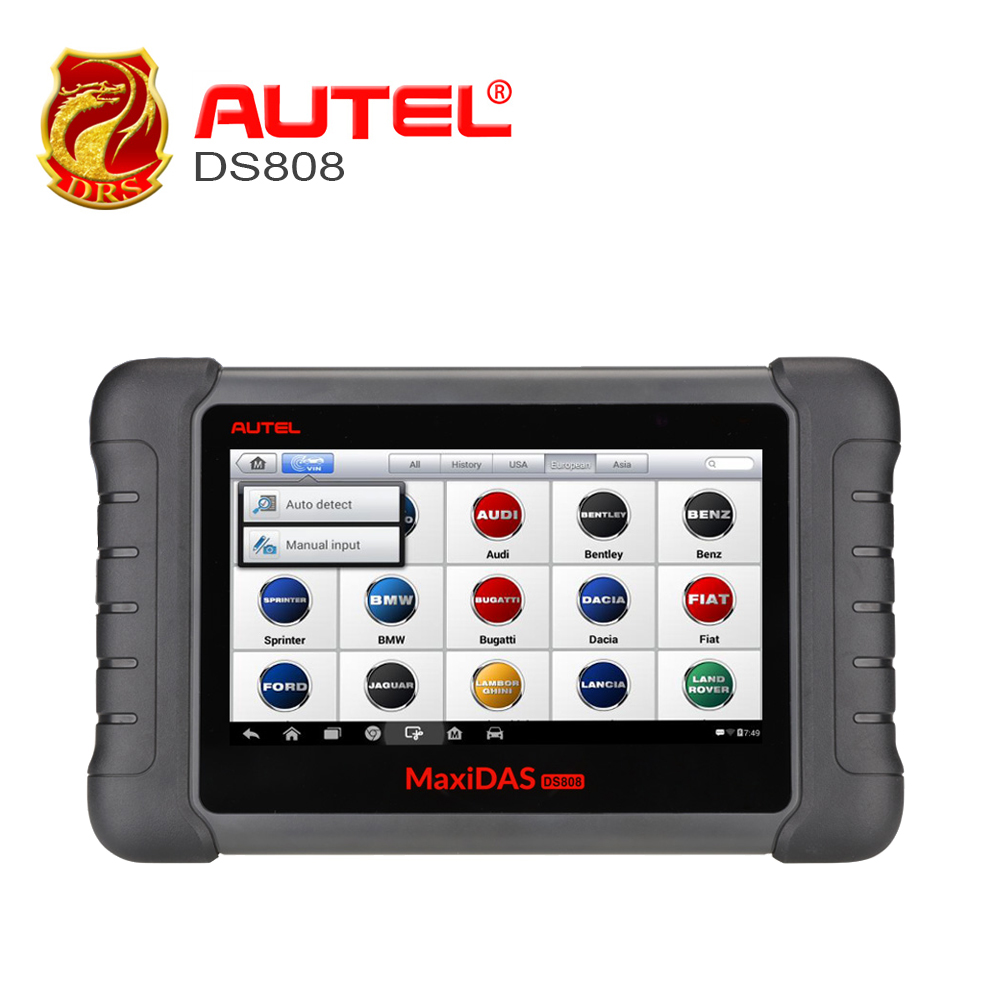 Autel MaxiDas DS808 Automotive Tools OBDII Diagnostic Tool Key Coding OBD2 Scanner Multi language as Autel MS906 ECU Coding OBD-in Car Diagnostic Cables & Connectors from Automobiles & Motorcycles