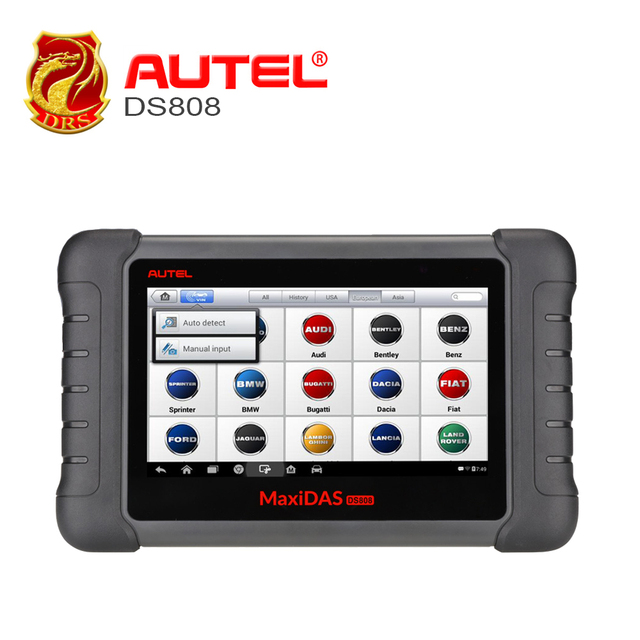 Best Price Autel MaxiDas DS808 Automotive Tools OBDII Diagnostic Tool Key Coding OBD2 Scanner Multi-language as Autel MS906 ECU Coding OBD