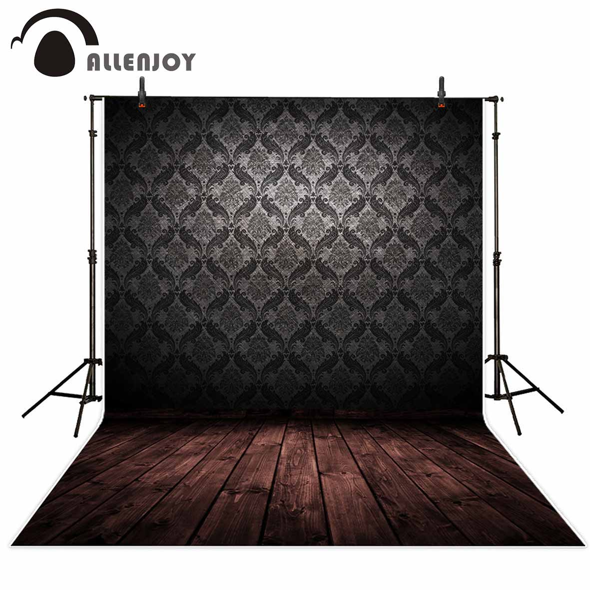 Allenjoy photographic background Wooden pattern decoration damask wallpaper backdrop photocall professional custom new arrivals